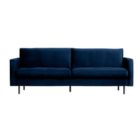 BePureHome Bank 'Rodeo' 2,5-zits, Velvet, kleur Dark Blue