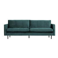 BePureHome Bank 'Rodeo' 2,5-zits, Velvet, kleur Teal