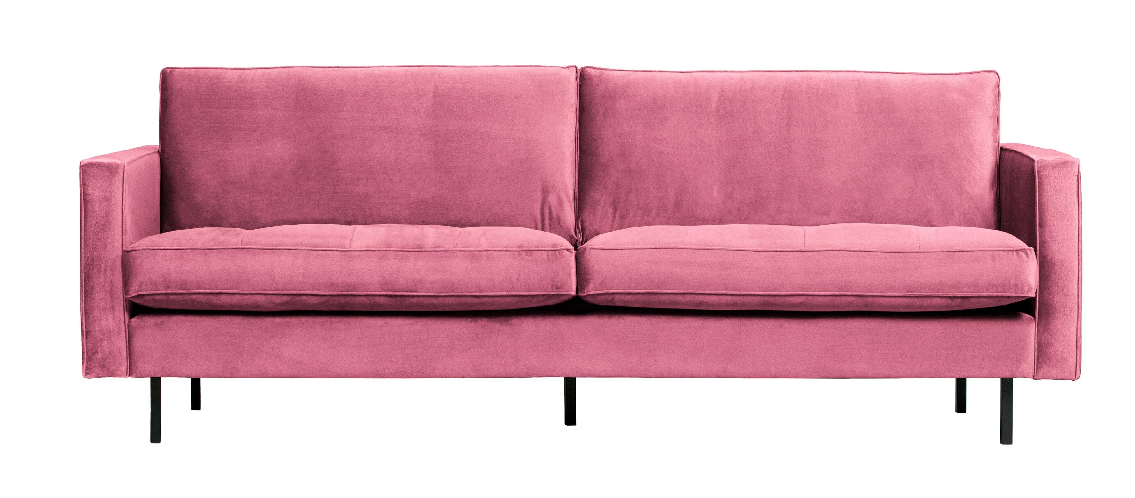BePureHome Bank 'Rodeo' 2,5-zits, Velvet, kleur Roze