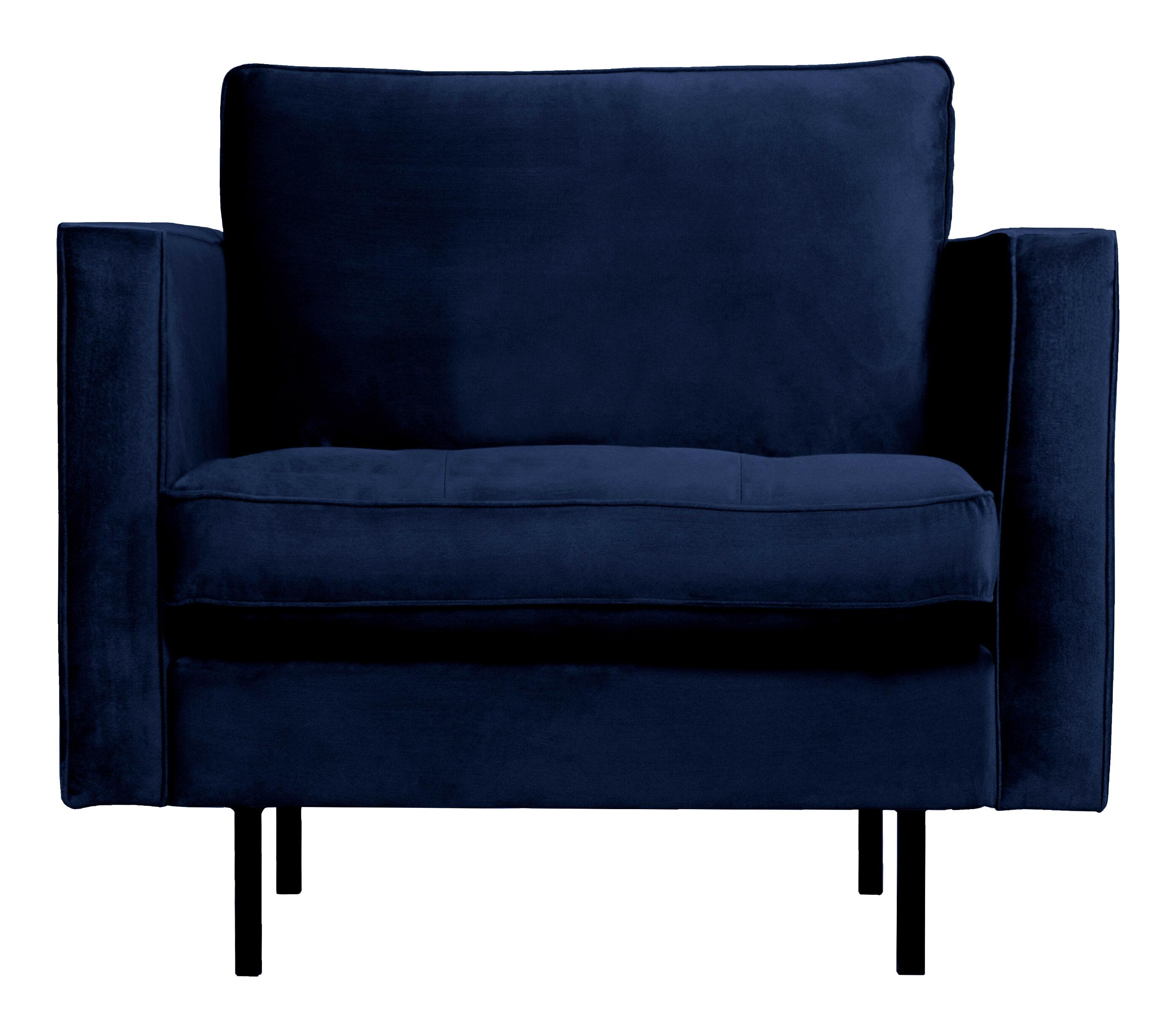 BePureHome Fauteuil 'Rodeo' Velvet, kleur Dark Blue