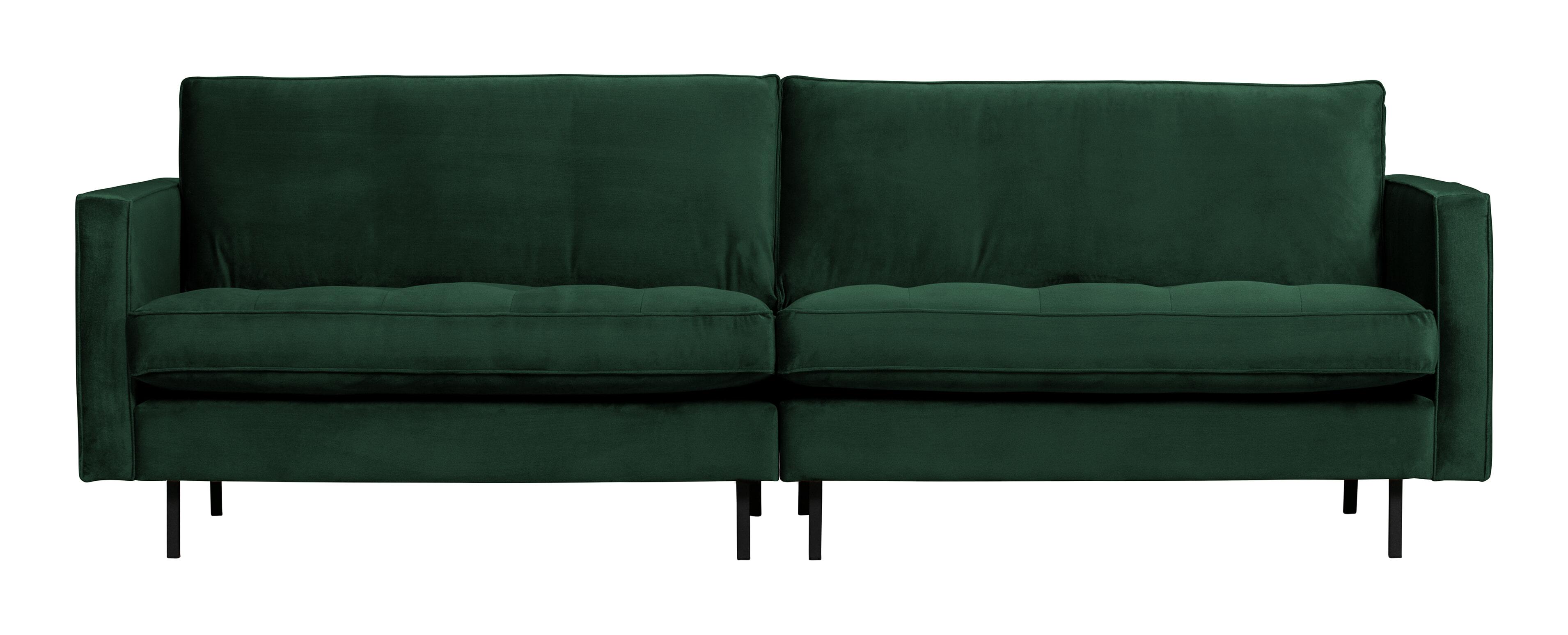 BePureHome Bank 'Rodeo' 3-zits, Velvet, kleur Green Forest