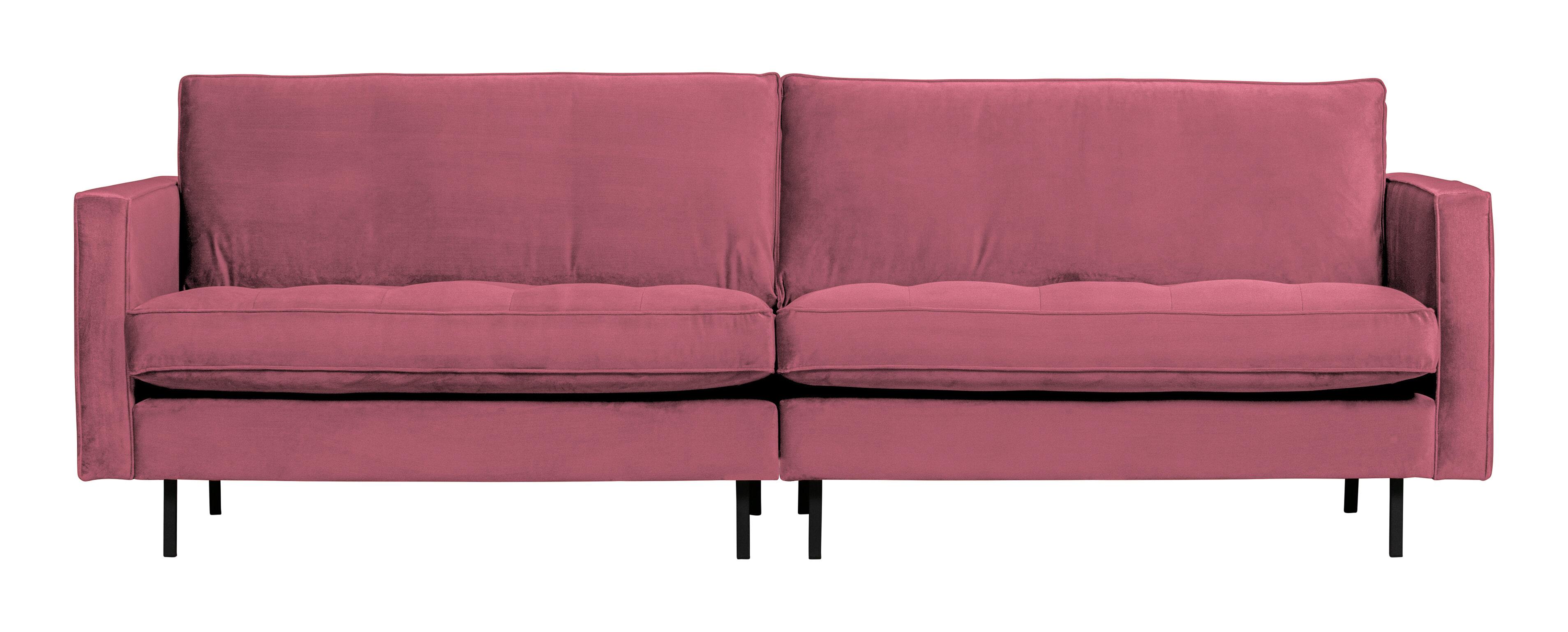 BePureHome Bank 'Rodeo' 3-zits, Velvet, kleur Roze