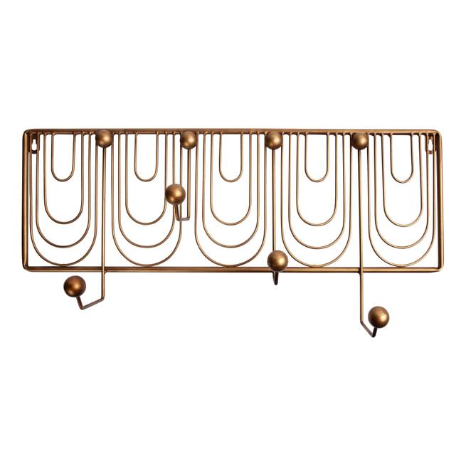 BePureHome Kapstok 'Ornamental', kleur Antique Brass