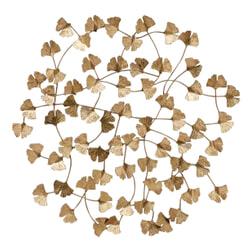 BePureHome Wandpaneel 'Wallflowers', kleur Antique Brass