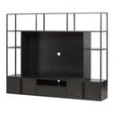 WOOOD TV-meubel 'Toby' 160 x 200cm, kleur Zwart