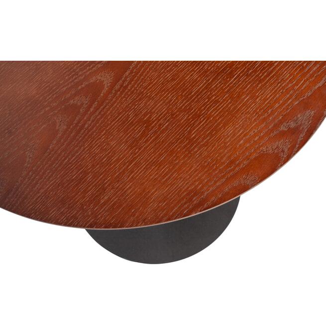 WOOOD Exclusive Salontafel 'Odin' Ø60cm, kleur Walnoot