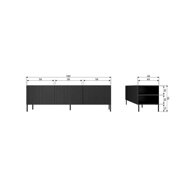 WOOOD TV-meubel 'Gravure' 180cm