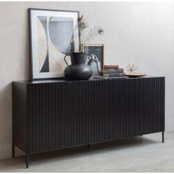 WOOOD Dressoir 'Gravure' 180cm, kleur Zwart