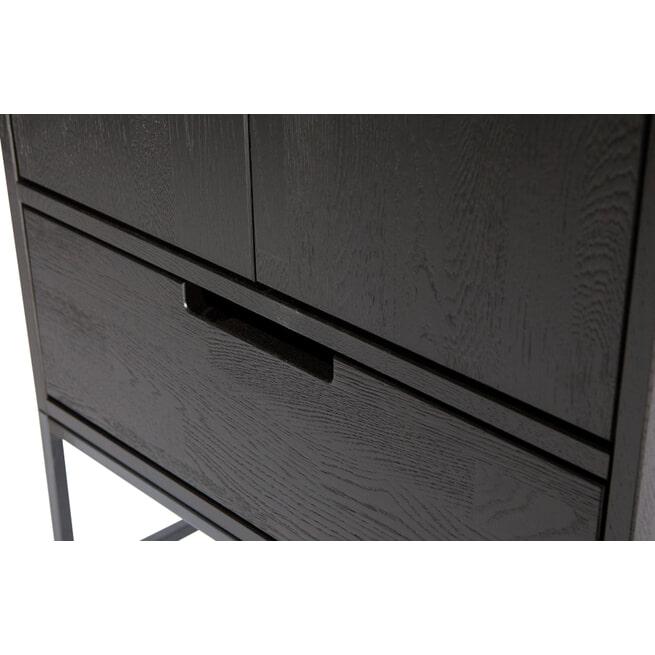 WOOOD Opbergkast 'Silas' 210 x 60cm, kleur Zwart