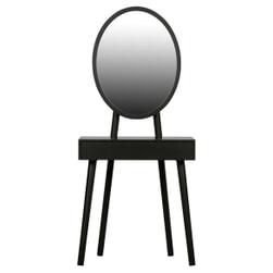 WOOOD Kaptafel 'Vanity' 65 x 42cm, kleur Zwart