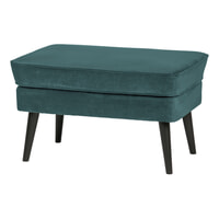 WOOOD Hocker 'Rocco' Velvet, kleur Teal