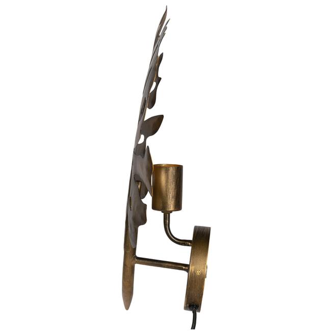 BePureHome Wandlamp 'Leaf', kleur Antique Brass