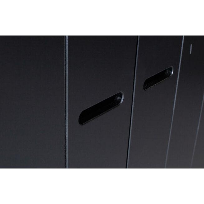 WOOOD Kledingkast 'Connect' 3 deuren en 3 laden, kleur Zwart