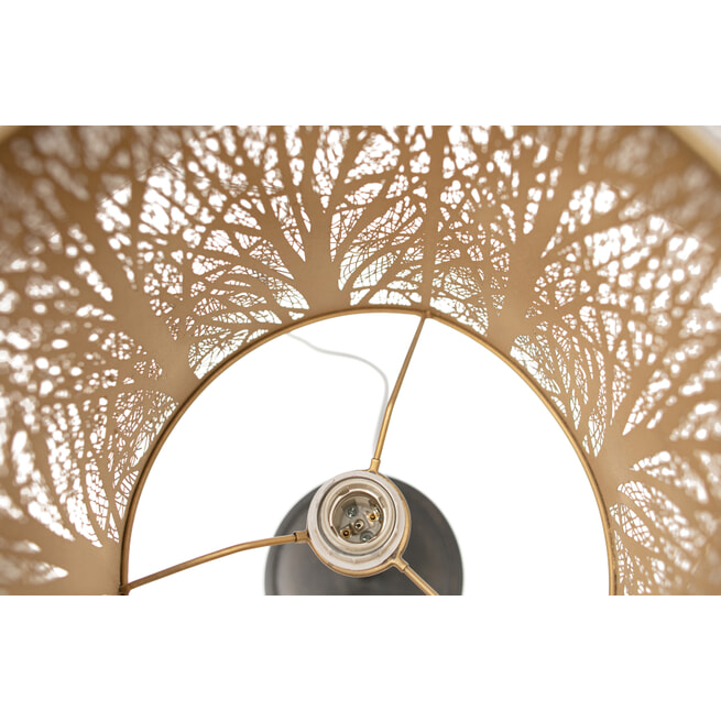 WOOOD Exclusive Tafellamp 'Keto', kleur Zwart/Antique Brass