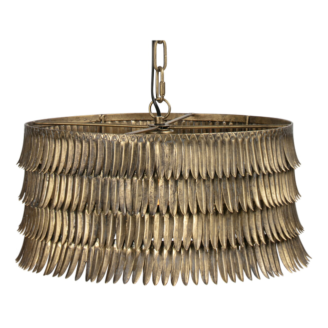 BePureHome Hanglamp 'Hawaii', kleur Antique Brass