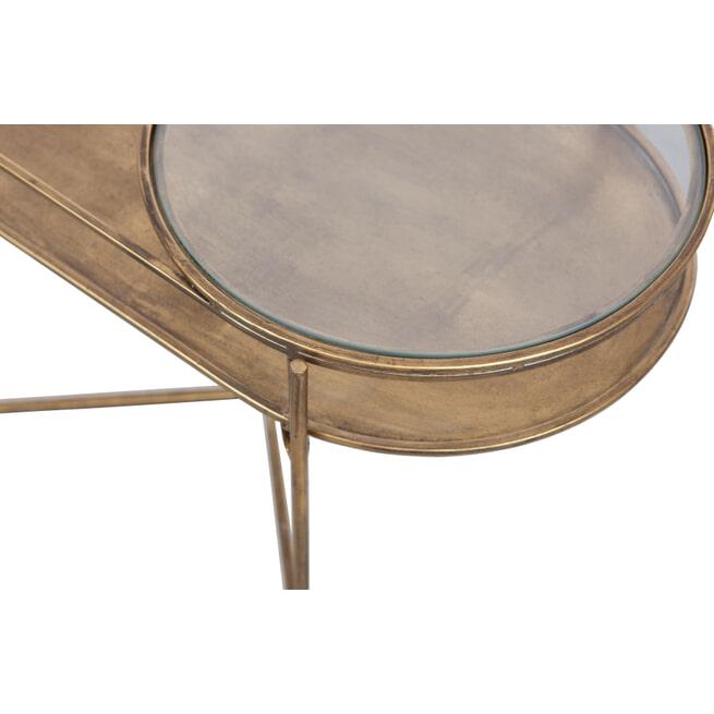 BePureHome Bijzettafel 'Adorable' 65 x 37cm, kleur Antique Brass