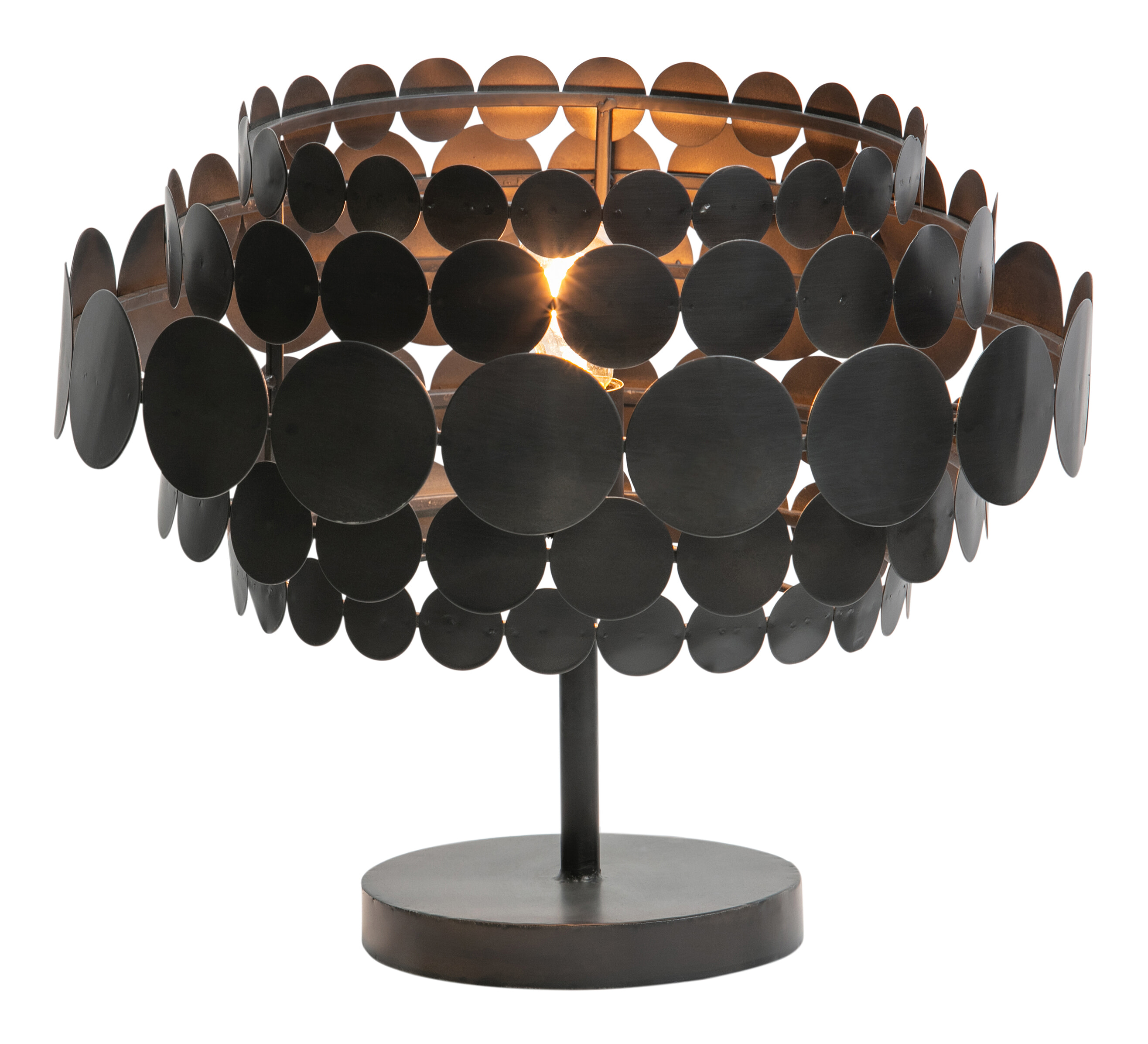 WOOOD Exclusive Tafellamp 'Kaki', kleur Zwart