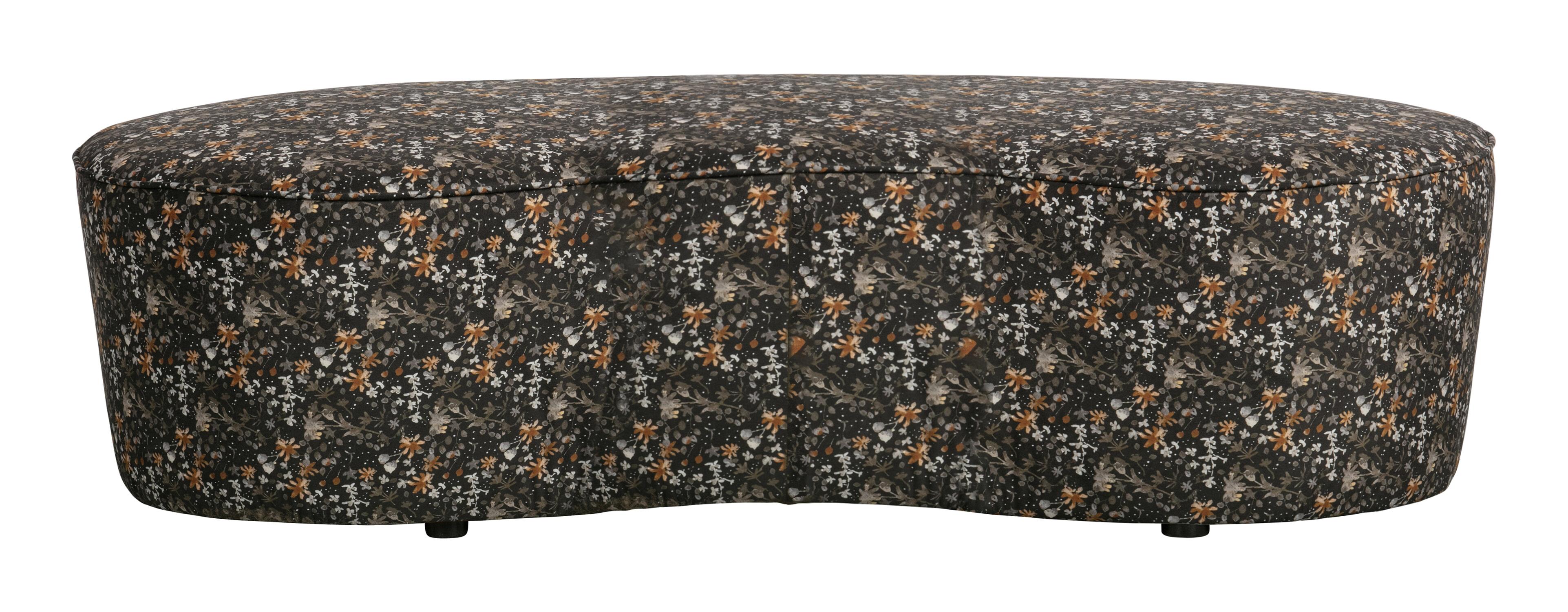 BePureHome Eetkamerbank 'Macaroni' 162cm, Velvet, kleur Aquarel Zwart