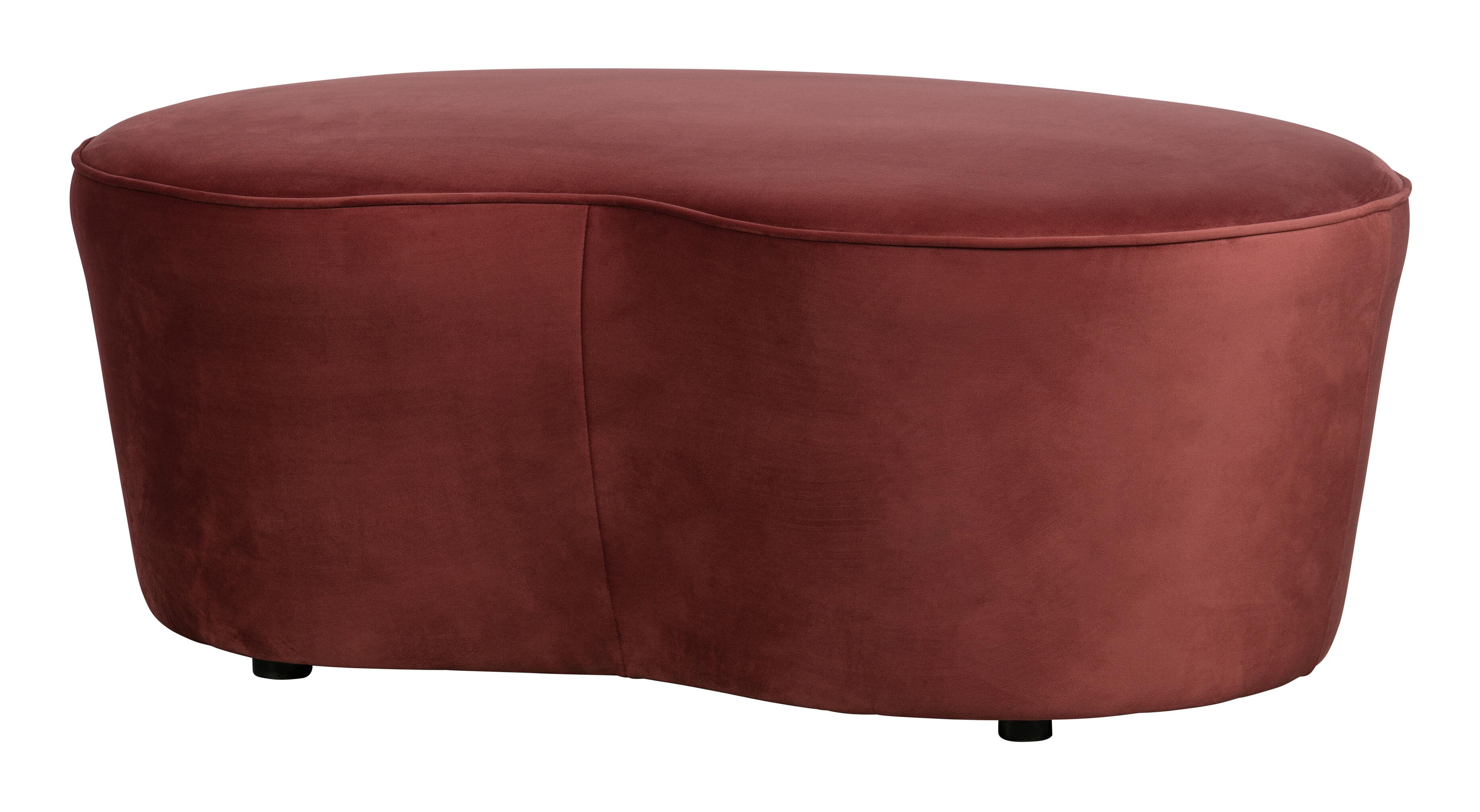 BePureHome Eetkamerbank 'Macaroni' 110cm, Velvet, kleur Chestnut