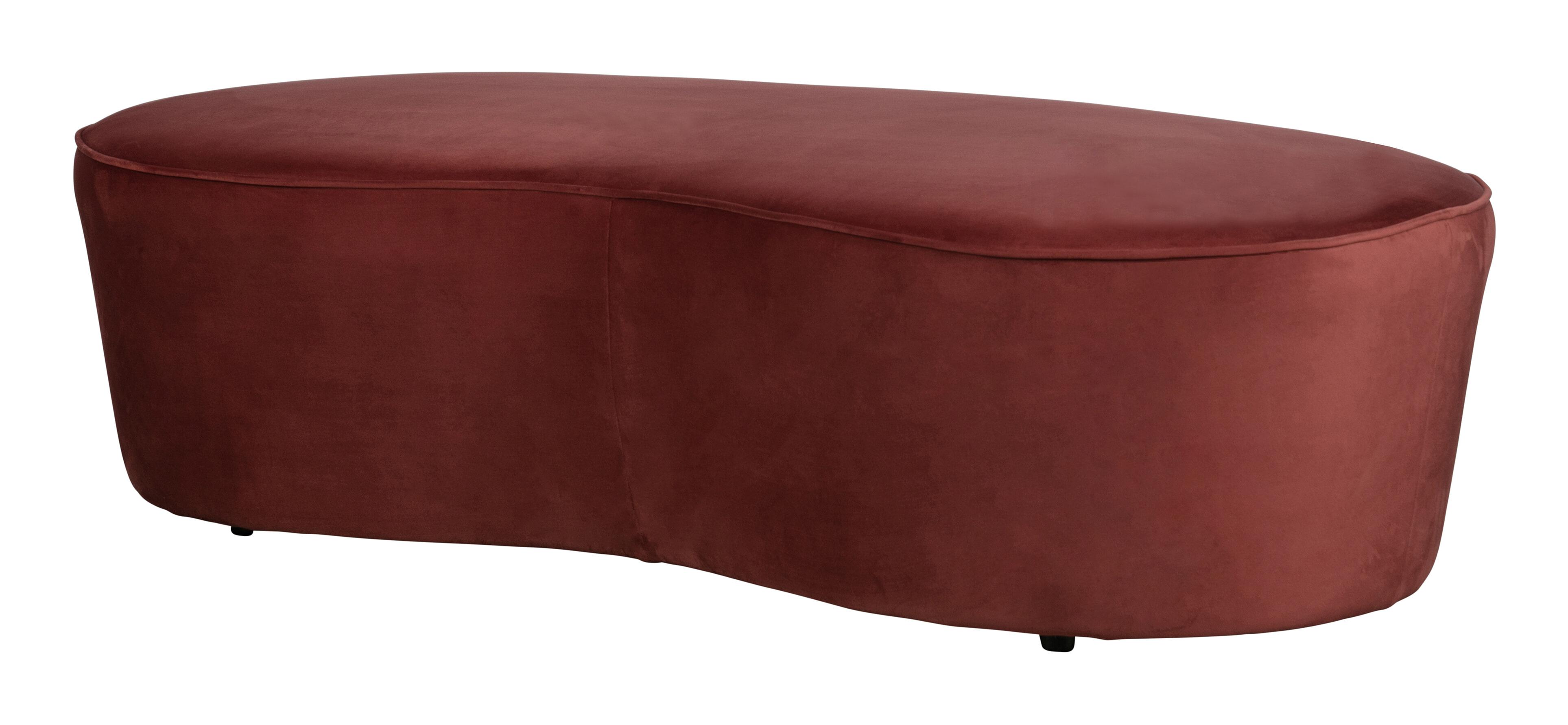 BePureHome Eetkamerbank 'Macaroni' 162cm, Velvet, kleur Chestnut