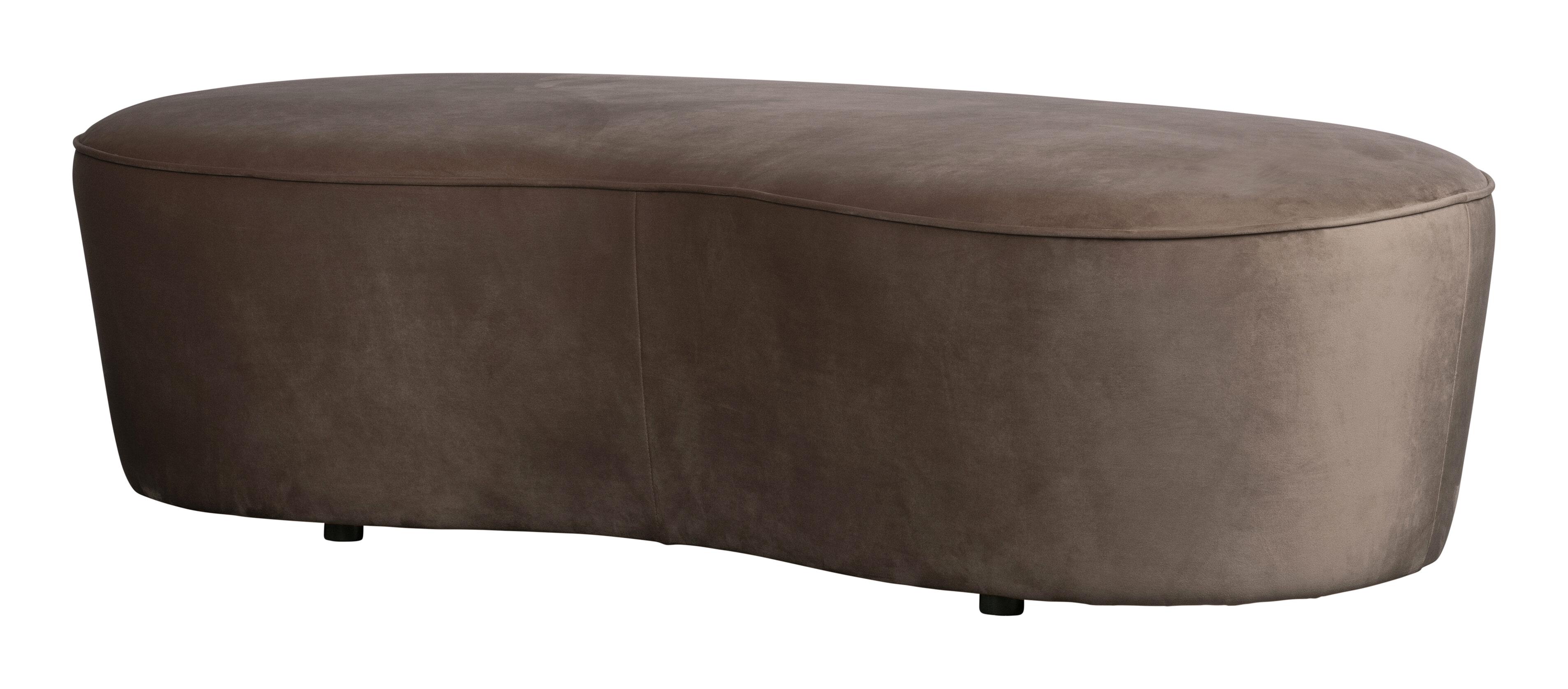 BePureHome Eetkamerbank 'Macaroni' 162cm, Velvet, kleur Nougat