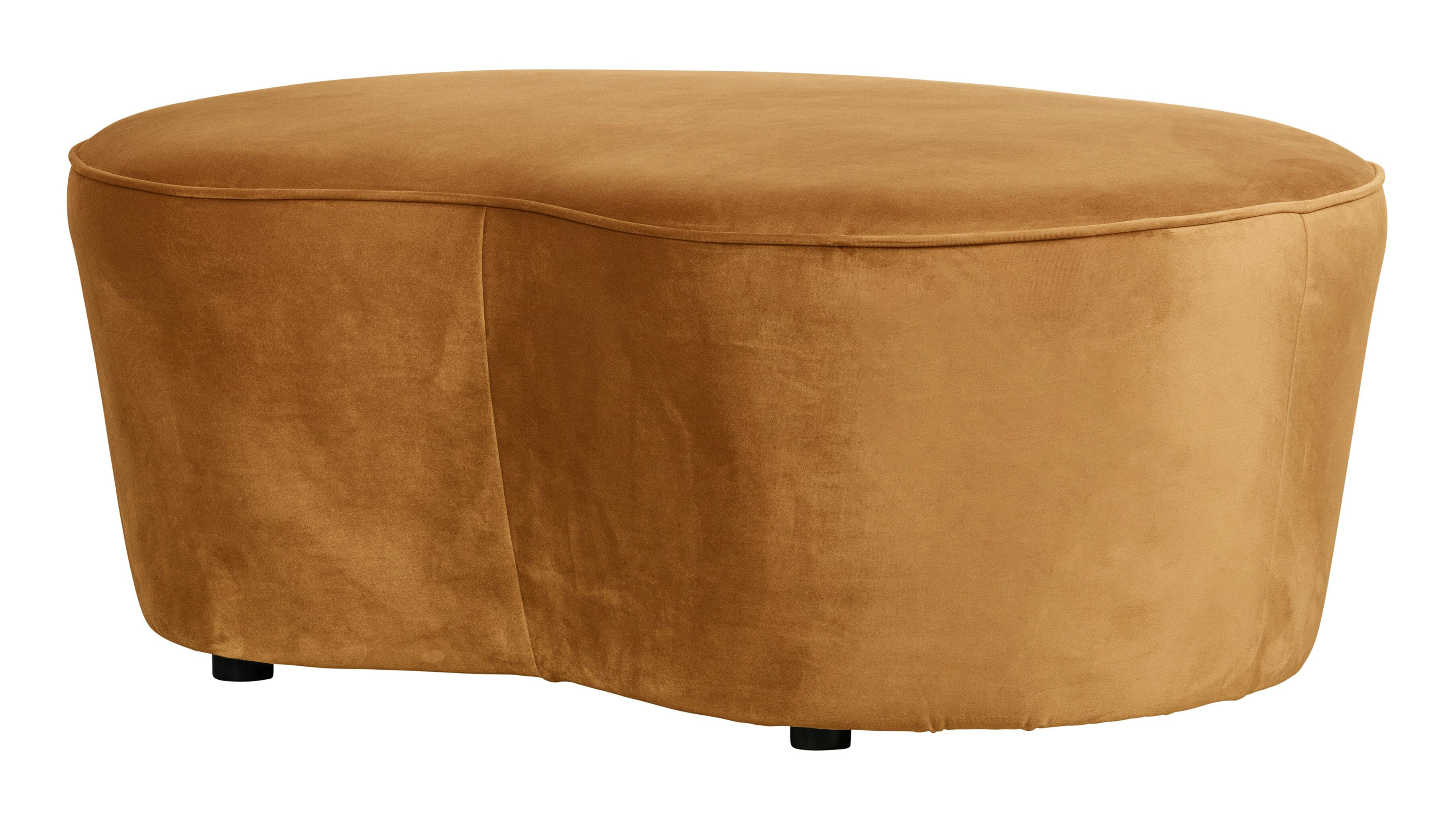 BePureHome Eetkamerbank 'Macaroni' 110cm, Velvet, kleur Mosterd