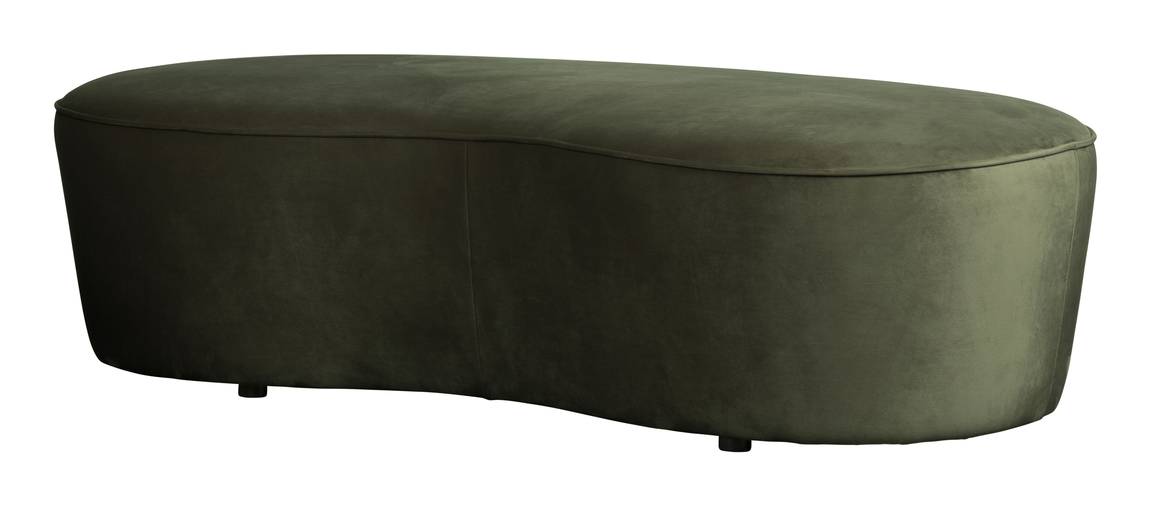 BePureHome Eetkamerbank 'Macaroni' 162cm, Velvet, kleur Onyx