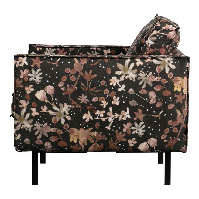 BePureHome Fauteuil 'Rodeo' Velvet, kleur Flower Chestnut
