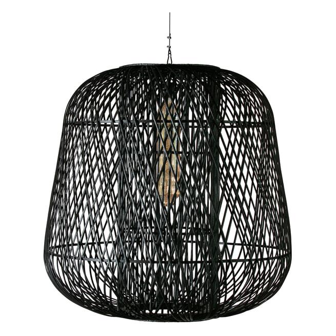 WOOOD Exclusive Hanglamp 'Moza' Bamboe, kleur Zwart