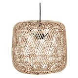WOOOD Hanglamp 'Moza' kleur Naturel, Ø70cm