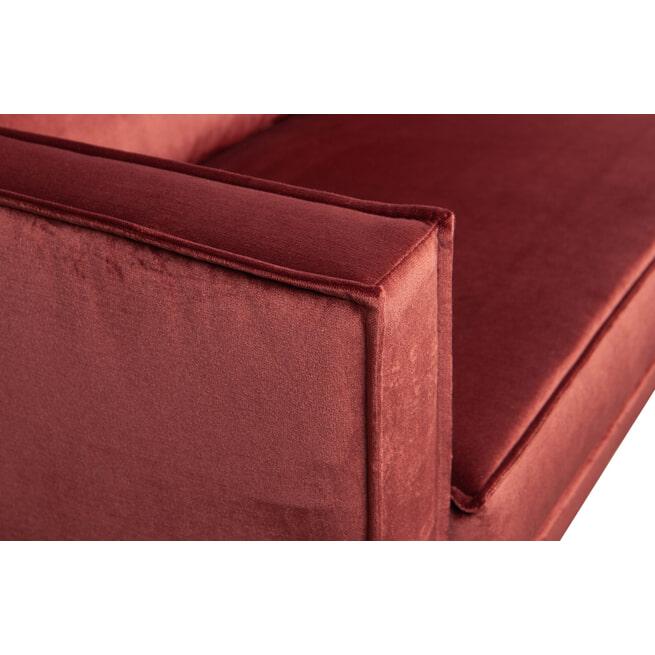 BePureHome Loungebank 'Rodeo' Links, Velvet, kleur Chestnut