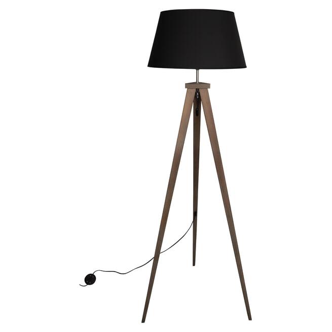 WOOOD Vloerlamp 'Omar' kleur Zwart