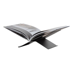 WOOOD Boekenstandaard 'Brook' Liggend, kleur Zwart