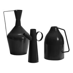 BePureHome Vaas 'Tins' Set van 3 stuks, kleur Zwart