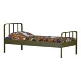 WOOOD Bed 'Mees' 90 x 200cm, kleur Army