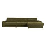 BePureHome Loungebank 'Date' Rechts, kleur Groen