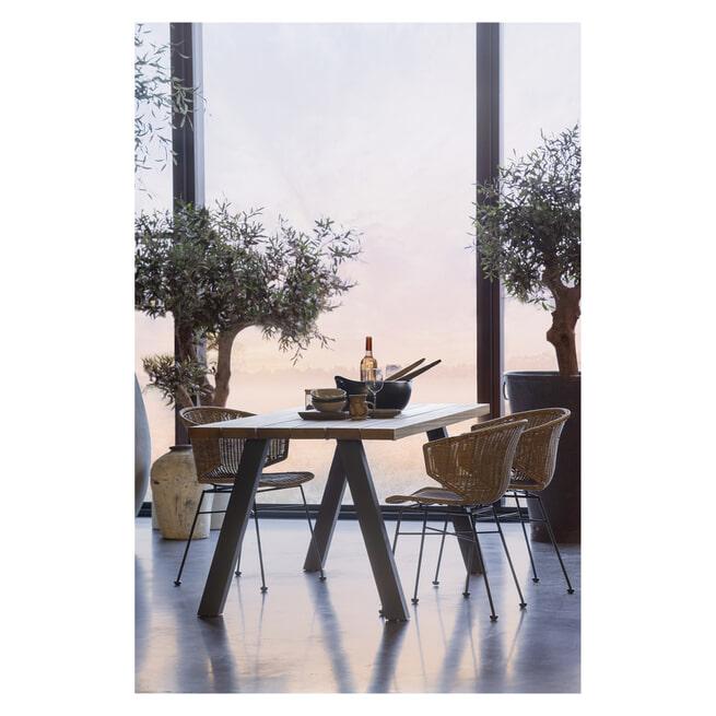 WOOOD Outdoor Eettafel 'Tablo' kleur Naturel
