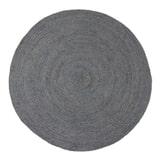WOOOD Rond Vloerkleed 'Ross' 150cm, kleur Asfalt
