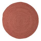 WOOOD Rond Vloerkleed 'Ross' 150cm, kleur Brick Red