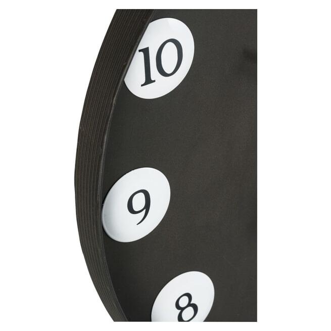 J-Line Klok 'Idès' kleur Zwart, Ø71cm