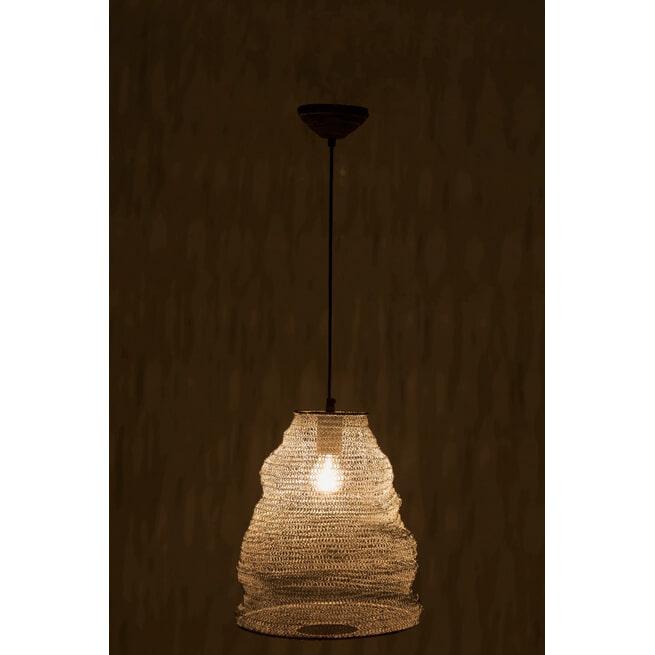 J-Line Hanglamp 'Gommaar' Small, kleur Grijs, Ø30cm