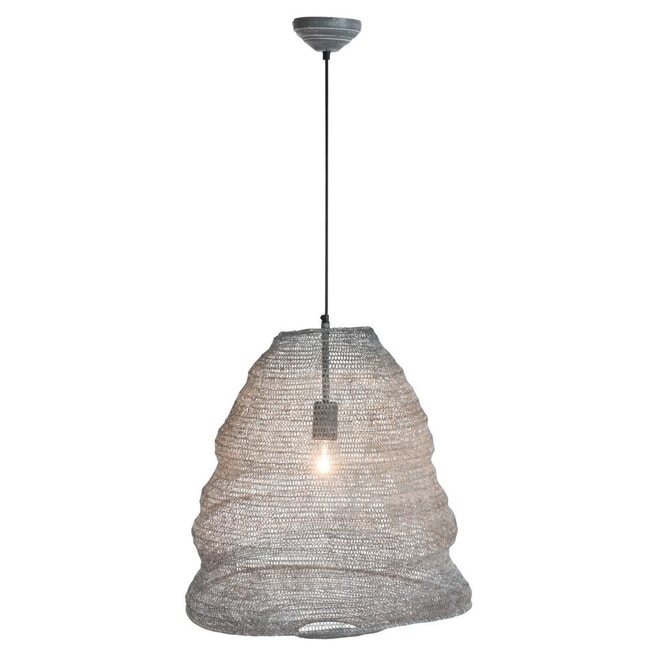J-Line Hanglamp 'Gerarda' Large, kleur Grijs