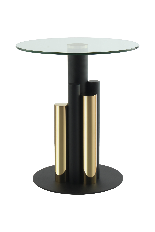 Kayoom Bijzettafel 'Ontario' 46cm, kleur zwart / goud