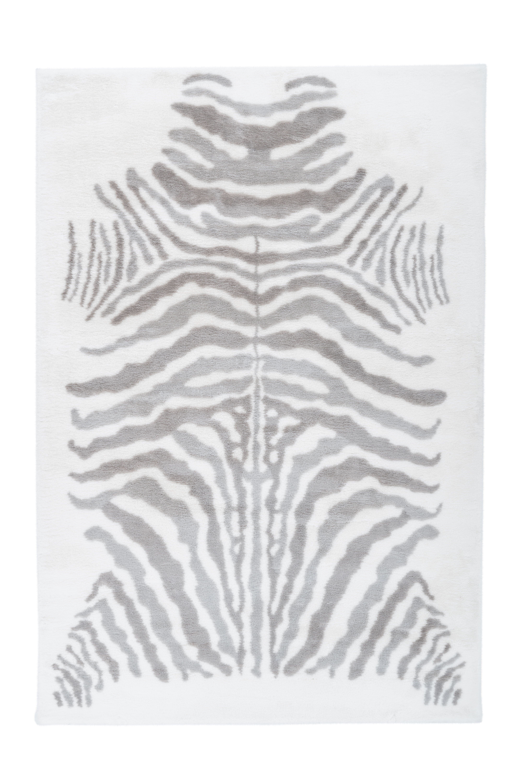 Kayoom Vloerkleed 'Rabbit Animal' kleur grijs / wit, 120 x 160cm