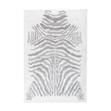 Kayoom Vloerkleed 'Rabbit Animal' kleur grijs / wit, 160 x 230cm