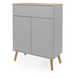 Tenzo Dressoir 'Dot' 79 x 102cm, kleur Grijs/Eiken