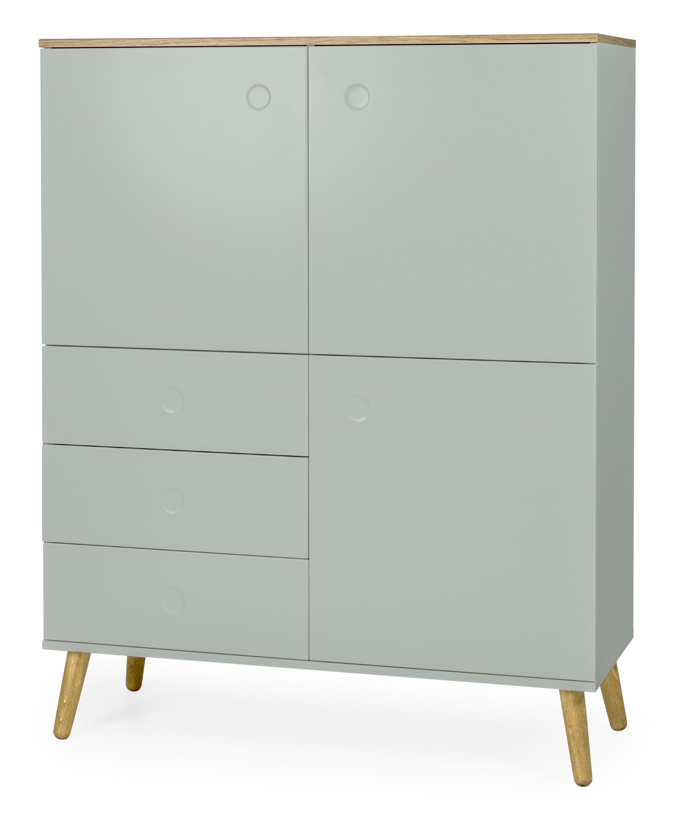 Tenzo Opbergkast 'Dot' 137 x 109cm, kleur Groen/Eiken