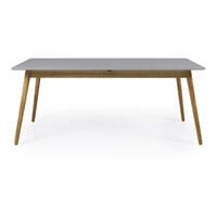 Tenzo Uitschuifbare Eettafel 'Dot' 160-205 x 90cm, kleur Grijs/Eiken