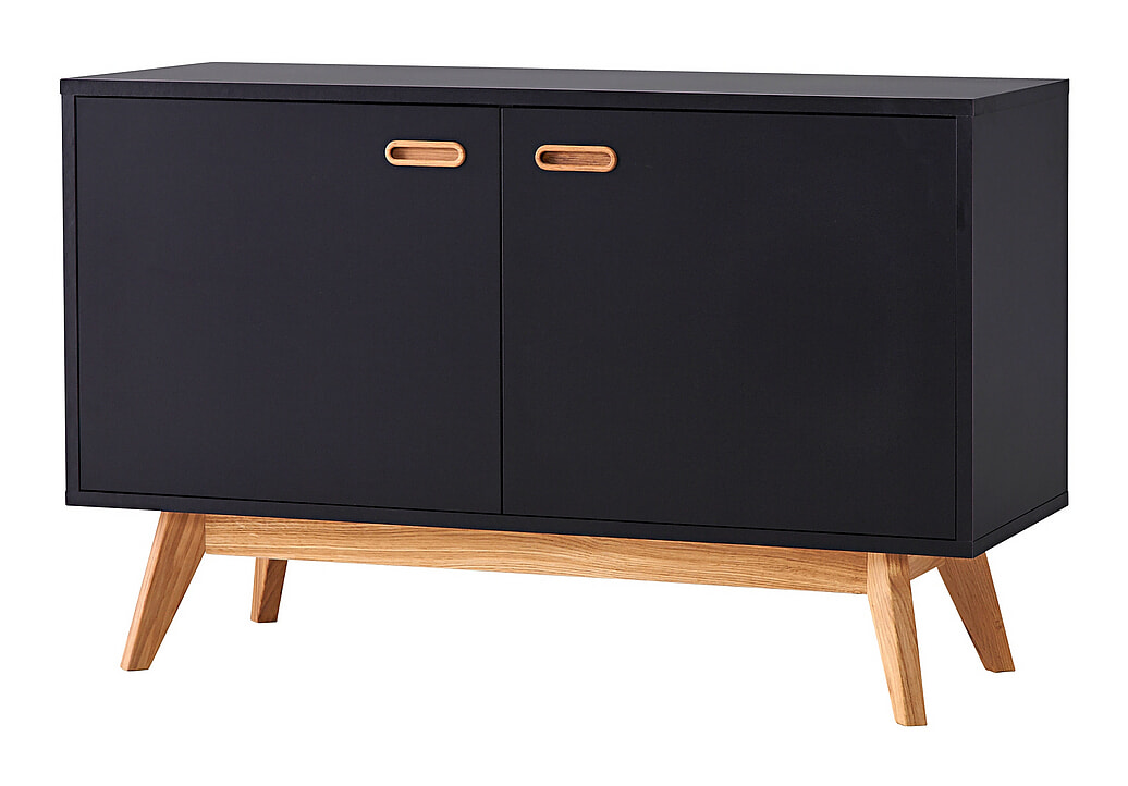 Tenzo Dressoir 'Bess' 114cm, kleur Zwart