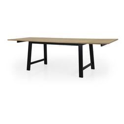 Tenzo Uitschuifbare Eettafel 'Lex' 160-250 x 90cm, kleur Eiken/Zwart